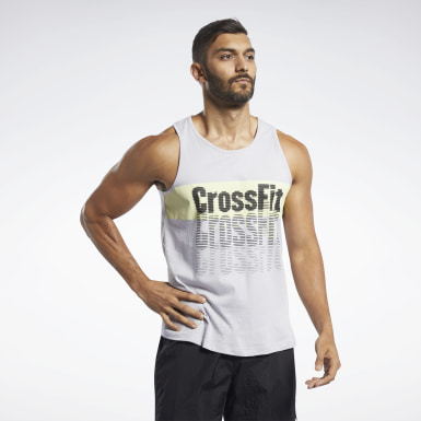 Heren Crosstraining Reebok CrossFit® Repeat Graphic Tanktop