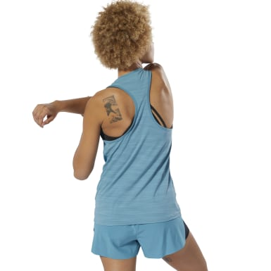 Women Training Turquoise ACTIVCHILL Vent Tank Top