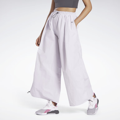 Women Studio White Wide Leg Woven Pants