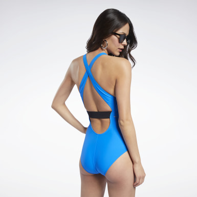 Reebok High Neck Zipper One-Piece