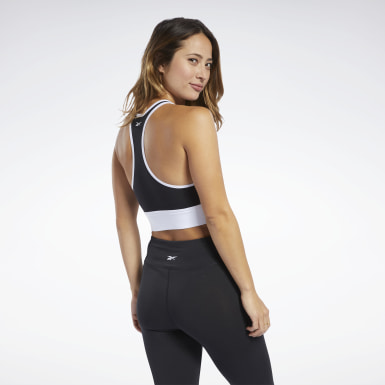 Bralette Training Essentials Linear Logo Nero Donna Fitness & Training