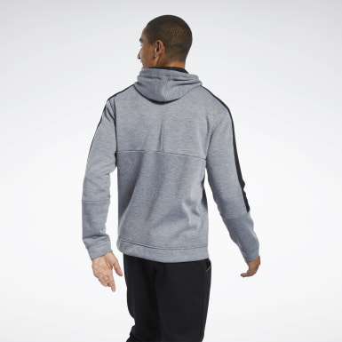 Men Fitness & Training Grey Workout Ready Hoodie