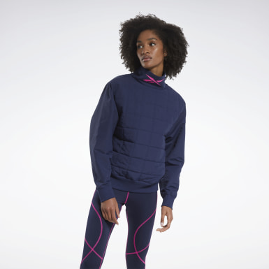 Frauen Outdoor MYT Cowl-Neck Sweatshirt Blau