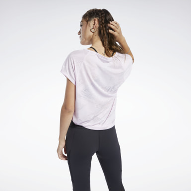 Frauen Yoga Burnout T-Shirt Rosa