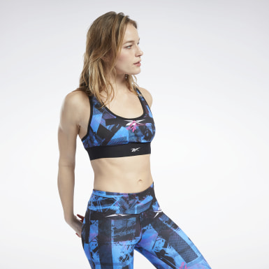 Women Cycling Black MYT Low-Impact Printed Sports Bra