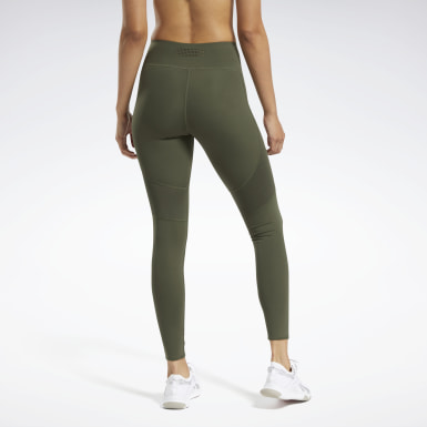 Women Fitness & Training Green Reebok PureMove Leggings Motion Sense ™