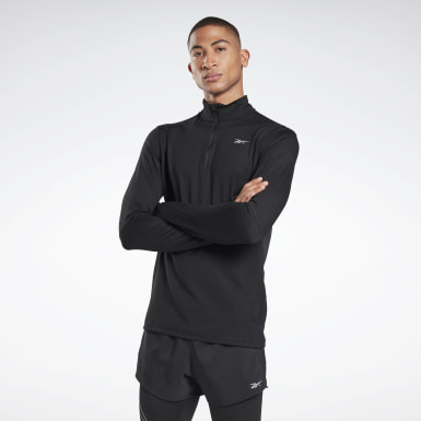 Men Terrengløping Black Running Essentials Quarter-Zip Top