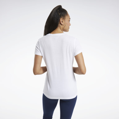 Camiseta Training Essentials Graphic Blanco Mujer Fitness & Training