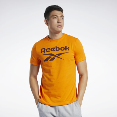 T-shirt Graphic Series Reebok Stacked Arancione Uomo Fitness & Training