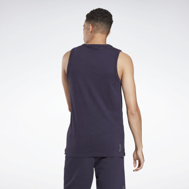 Men Studio Purple LES MILLS® BODYCOMBAT® Slub Tank Top