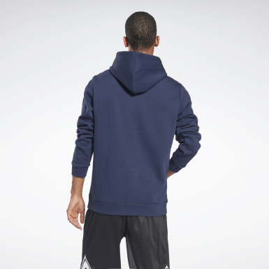 Men Fitness & Training Blue Training Essentials Tape Hoodie