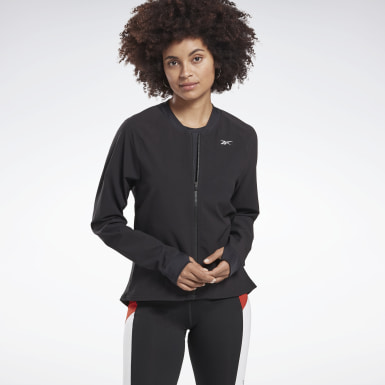 Women Running Black One Series Running Hero Jacket