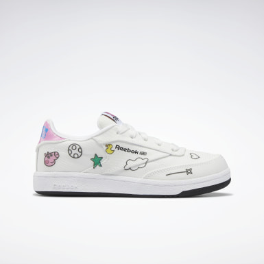 Kids Classics White Club C Shoes - Preschool
