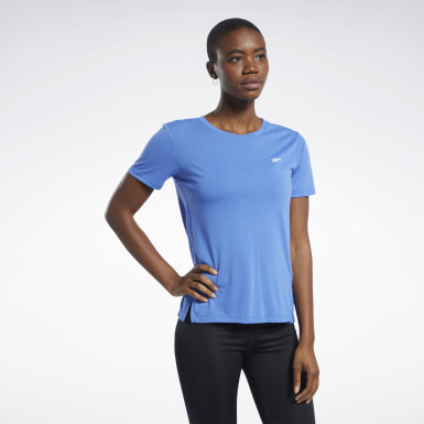 Women Pilates Blue Workout Ready Supremium Tee