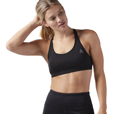 Women Training Black Sport Essentials Bra
