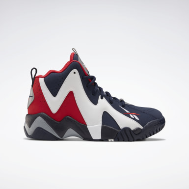 Kids Classics Blue Kamikaze II Basketball Shoes - Grade School