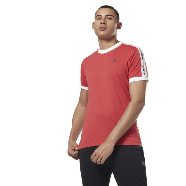 Polera Training Essentials Linear Logo Rojo Hombre Fitness & Training
