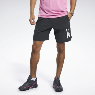 Men Fitness & Training Black Textured Epic Shorts