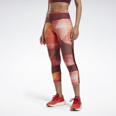 Women Running Red Run Lux Bold 3/4 Length Leggings