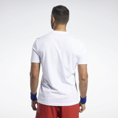 Men Training White Reebok CrossFit® AMRAP Tee