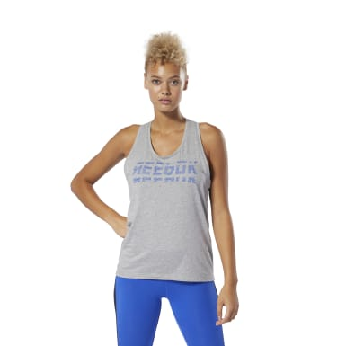 Women Fitness & Training Grey WOR Meet You There Graphic Tank Top