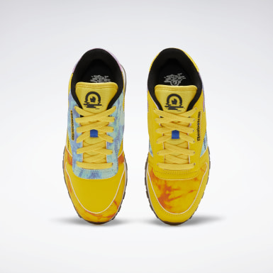 Girls Classics Yellow Classic Leather Shoes - Grade School