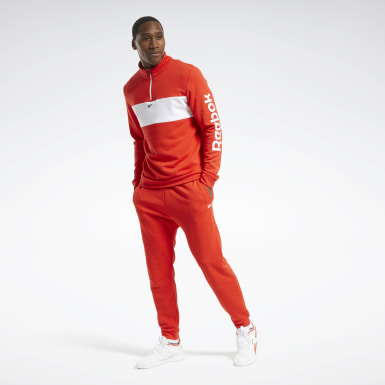 Mænd Fitness & Training Red Training Essentials Linear Logo Track Suit