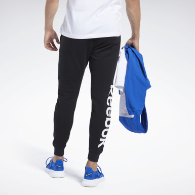 Joggers Training Essentials Linear Logo Nero Uomo Fitness & Training