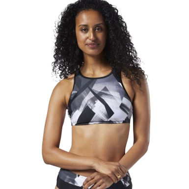 Bold Dynamic High-Neck Swim Bra Top