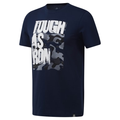 Camiseta Gola Careca Tough As Iron