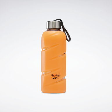 Training Orange Tech Style Glass Water Bottle