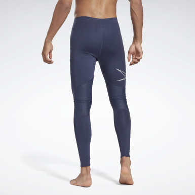 Men Training Blue United by Fitness Compression Tights