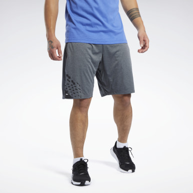 Short Knit Gris Hommes Fitness & Training