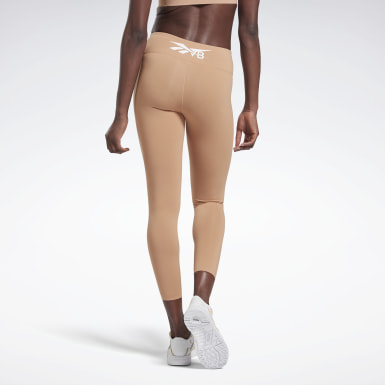 Women Training Beige VB Classic 7/8 Tights
