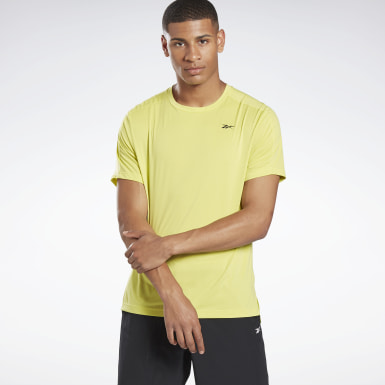Men Training Yellow United By Fitness Perforated Tee