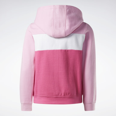 Mädchen Fitness & Training Reebok Colorblock Hoodie Rosa