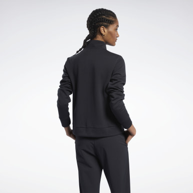 Women Fitness & Training Black Track Jacket