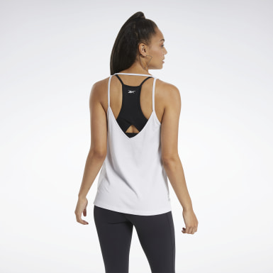 Women Training White ACTIVCHILL+COTTON Tank Top