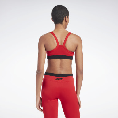 Women Fitness & Training Red VB Seamless Low-Impact Bra