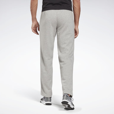Men Training Grey Reebok Identity Open Hem Pants
