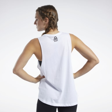 Women Fitness & Training White Reebok CrossFit® Muscle Tank Top