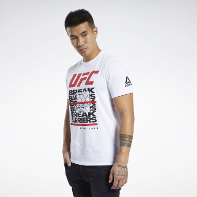 Men Fitness & Training White UFC Fan Gear Capsule T-Shirt