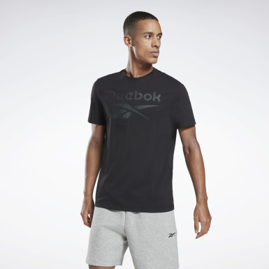 Men Fitness & Training Black Graphic Series Reebok Stacked Tee