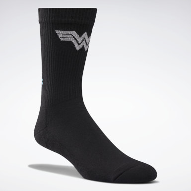Classics Svart Wonder Woman Crew Socks