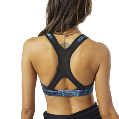 Women Running Blue Hero Racer Medium-Impact Padded Bra