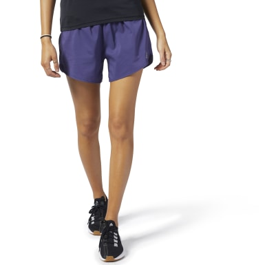 Women Running Purple Running Essentials 4-Inch Shorts