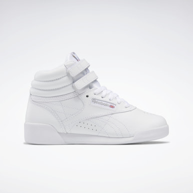Girls Classics White Freestyle Hi Shoes - Preschool