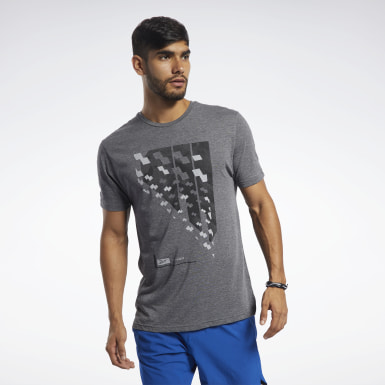 Heren Fitness & Training Zwart ACTIVCHILL+COTTON T-shirt