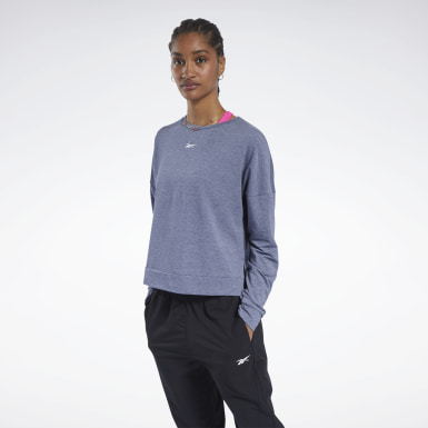 Women Yoga Blue ACTIVCHILL+COTTON Long-Sleeve Top