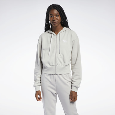 Sudadera Classics Foundation French Terry Gris Mujer Classics